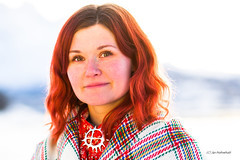 Tine (Jaholme) Tags: portrett ullsfjord vågen valen kvinne red redhair woman sjal vinter kaldt cold winter shawl