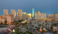 Blue Hour at the Las Vegas Strip (ap0013) Tags: las vegas strip city downtown cityscape skyline lasvegas bluehour nevada nv thestrip hardrock hotel casino tower west western usa