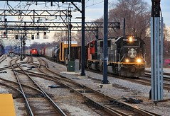 Reversal of Fortunes (BravoDelta1999) Tags: canadiannational cn railway illinoiscentral ic railroad chicagosubdivision metra electric metx chicago illinois emd sd70 1029 x338 sd70m2 8882 m338 manifest train kensington 115thstreet station