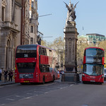 Two red buses and the Griffin by Charles Bell Birch thumbnail