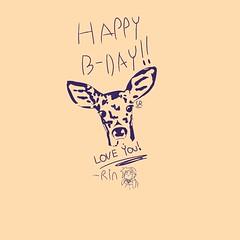 Deer drawing (Serenity Eve) Tags: deer drawing art birthday card cool nice animals