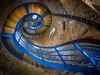 Blue curl (Ulrich Neitzel) Tags: aufwärts blau blue fehmarn fisheye flügge leuchtturm lighthouse olympusem1 spiral spirale staircase stairs treppe upwards walimex75mm