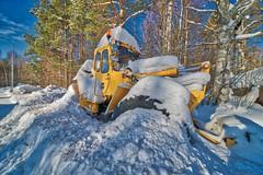DSC09533 (johan.bergenstrahle) Tags: tractor traktor hjullastare volvo vännäs sverige sweden finepicsse hdr mars march 2018
