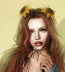 Come un girasole ... (Alegria Jaquemate) Tags: sl face secondlife beauty sexy hot woman girl kustom9 fameshed astralia skinfair beusy ysys
