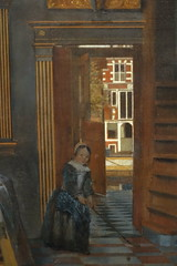 """Detail of """"Interior with Women beside a Linen Cupboard"""", 1663, oil on canvas (Sparky the Neon Cat) Tags: europe netherlands north holland amsterdam rijksmuseum museum art gallery painting interior women de hooch beside linen cupboard"""