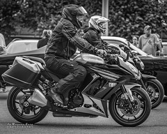 Two wheeled excitement (m3dborg) Tags: motorbikes rider people hjulafton street city road monochrome engine wheel helmet man male car vehicles