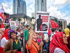 Peaceful Street Demonstration  , Jakarta (-Faisal Aljunied - !!) Tags: carfreedayjakarta iphone7plus streetdemonstrations indonesia jakarta streetphotography faisalaljunied