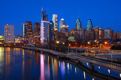 Canon TS-E 50mm f/2.8L Tilt-Shift Lens Visits Philadelphia for the Blue Hour (Bryan Carnathan) Tags: philadelphia schuylkill river waterfront riverwalk city cityscape urban night skyline outdoor photography travel usa unitedstates pennsylvania bluehour photo longexposure canon canoneos5dsr reallyrightstuff comcastcenter onelibertyplace twolibertyplace bnymelloncenter