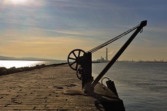 The Great South Wall (Carmel..) Tags: sky pier wall pulley stone water chimneys evening walk outdoor poolbeg dublinport ringsend dublin
