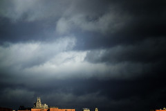 Clouds and Telefonica Building in the background (ninestad) Tags: