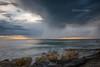 """""""Alien stones"""" (L. Castaings - Photographie) Tags: beach storm plage orange paysage landscapes paysages landscape pose longue canon tamron france"""