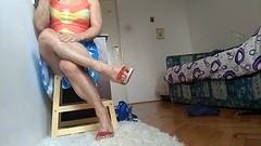 vlcsnap-2018-04-05-13h07m34s97 (ARDENT PHOTOGRAPHER) Tags: muscularcalves flexing muscularwoman sexylegs