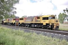 Aurizon Coal Train (Lance # Australian photographer) Tags: coaltrain chinchilla 4413 queensland railroad train locomotive aurizon outdoor blocklimit