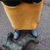 Chameau-blau-Wald8350 (Kanalgummi) Tags: rubber waders chestwaders wathose gloves gummihandschuhe dirty sewer worker égoutier kanalarbeiter