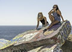Sunken City (Shawn Herring) Tags: female girl sunken city model la los angeles sunny ocean graffiti cement blocks outside blue sky shawn herring nikon d7100 fashion