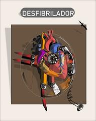 Defibrillator (Amparo Higón) Tags: desfibrilador defibrilattor phone teléfono smartphone coreldraw digitalpainting digitalart kunst modernekunst artemoderno kreativität creatividasd creative amparohigón colours red rot blau blue azul rojo yellow amarillo corazón heart