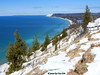 April Bluffs (JamesEyeViewPhotography) Tags: spring snow trees lake michigan lakemichigan greatlakes sky water clouds sand dunes beach april waves landscape nature northernmichigan sleepingbeardunesnationallakeshore jameseyeviewphotography