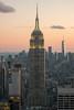 Empire State Building at Sunset (paul.wasneski) Tags: newyork unitedstates us empirestate topoftherock nyc midtown sunset rockefeller