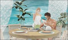 Not Too Late (Broderick Logan) Tags: secondlife second life sl avatar virtual 3d inworld vr mesh bento vacation sea ocean journey chezmoi blog photography couples love romance