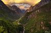 Sunset at Stalheim, Norway (AdelheidS Photography) Tags: adelheidsphotography adelheidsmitt adelheidspictures stalheim naerodal norway norge noorwegen noruega norwegen norvegia nordic norvege norden sunset goldenhour