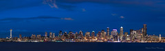 That Blue! (SeattleEmpress) Tags: 4shotpano pugetsound city nikon seattle seattleempress spaceneedle stephaniesinclairphotography zeiss