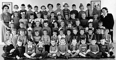 Class photo (theirhistory) Tags: children kids boys school girls teacher jumper shoes trousers shorts wellies rubberboots