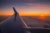 Returning back home (Vagelis Pikoulas) Tags: sun sunset view air airplane plane ryanair aeroplane sea seascape landscape winter january 2018 tokina 2470mm santorini thira greece europe cyclades kyklades island islands