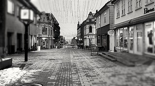 The quiet pedestrian street
