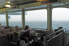 Inside Looking Out (PDX Bailey) Tags: sea ocean people ferry fog state washington exit