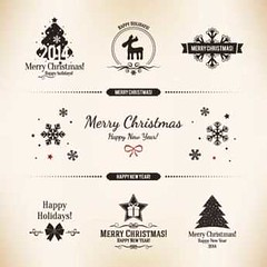 Free Vector Merry christmas Logo design elements (cgvector) Tags: 2014 background backgroundchristmas bow brochure card celebrate celebration christmas christmastree december decoration design greeting greetingcard holly idea merry merrychristmas newyear party reindeer santa snow traditional tree vector vintage xmas year