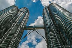 Petronas Twins (ProPeak Photography - Thanks for 500,000 views!) Tags: architecture asia blue blueskies buildings clouds famousplace internationallandmark malaysia perspective petronas texture touristattraction traveldestination travelandtourism ngc kuala lumpur