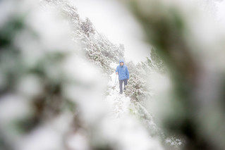 framed snow hiker