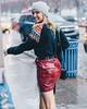 112. (jspic3) Tags: girl new york nyc nyfw red fashion street week woman cool pier59 model sony a7riii 55mm rain puddle wet newyorkcity amateur beginner fall winter 365 purse blue hat