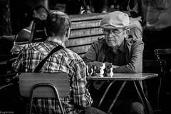 Batallas en la Plaza de Armas (Eugercios) Tags: ajedrez chess santiago santiagodechile plaza armas plazadearmas downtown centro blanco branco black white preto negro bw bnw bn man men abuelos juego play pensar think america chile