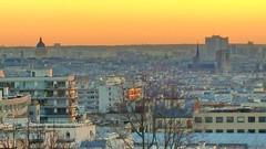 535 Paris en Février 2018 - rue Piat, Belvédère de Belleville (paspog) Tags: paris france sunset 2018 coucherdesoleil février februar february belleville belvédèredebelleville parcdebelleville ruepiat