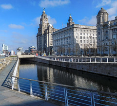 Liver building and Liverpool canal (Philip Brookes) Tags: liverbuilding liverpool canal water sky clock building architecture england uk britain merseyside