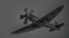 Silver Spitfire #3 (_J @BRX) Tags: battleofbritainmemorialflight bbmf supermarine spitfire mkprxix ps915 silver raf royalairforce coningsby spring april 2018 lincolnshire england uk nikon d5200 sigma griffon
