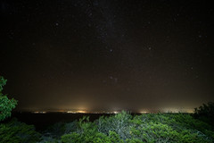 Orion sets over Jervis Bay (OzzRod (on the road again)) Tags: pentax k1 laowa12mmf28zerod night sky stars constellation orion canismajor lightpainting villages huskisson vincentia