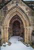 Snow In Morley, Derbyshire (Geraldine Curtis) Tags: snow morley derbyshire field beastfromtheeast church door