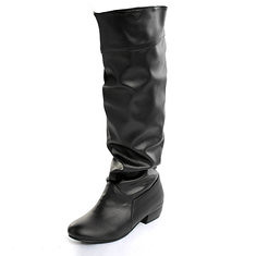 Women PU Leather Pure color Leisure Low Heel Knee High Boots (955128) #Banggood (SuperDeals.BG) Tags: superdeals banggood bags shoes women pu leather pure color leisure low heel knee high boots 955128