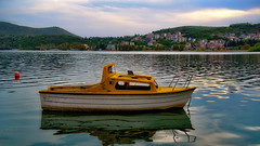 Boat on the lake... (Photo_hobbyist) Tags: lake kastoria macedonia makedonia greece fishing boat ngc macedoniagreece timeless macedonian macédoine mazedonien μακεδονια македонија