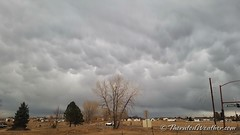 March 15, 2018 - The first mammatus clouds of the season. (ThorntonWeather.com)