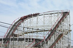 The Coney Island Cyclone (Stabbur's Master) Tags: newyork newyorkcity brooklyn coneyisland thecyclone lunapark amusementpark themepark rollercoaster woodenrollercoaster lunaparkcyclone coneyislandcyclone