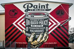 Paint it black (Melissa Maples) Tags: münchen munich deutschland germany europe nikon d3300 ニコン 尼康 nikkor afs 18200mm f3556g 18200mmf3556g vr winter graffiti streetart art mural paintitblack shepardfairey text red
