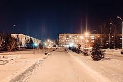 Light poles (QualCore) Tags: бузулук россия глубинка провинция ночь огни зима buzuluk russia light night sky canon600d canon 600d