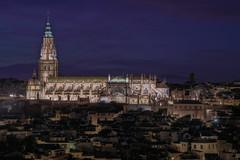Toledo (karinavera) Tags: city longexposure night photography cityscape urban ilcea7m2 toledo church sunset