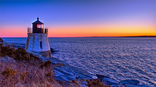 Castle Hill Lighthouse at Sunset