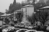 Pamiers Snow Day (LachMH) Tags: canon eos 50mm prime lens nifty fifty rebel t5i 700d france pamiers travel black white bw monochrome snow weather street