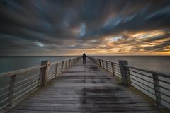 Contemplation... (Grégory Dolivet) Tags: sunset sundown pier longexposure cloud sea seascape sky soleil ocean landscape photography