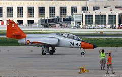 Ejército del Aire CASA C101EB Aviojet E.25-43/74-43, 741 Esc. arrival at Malaga AFB/LEMG for DAPEX-18 (Mosh70) Tags: malagacostadelsolairport lemg ejércitodelaire ef18mhornet casac101ebaviojet casac101aviojet casac212 mcdonnelldouglas ala12 ala15 741escuadron dapex18
